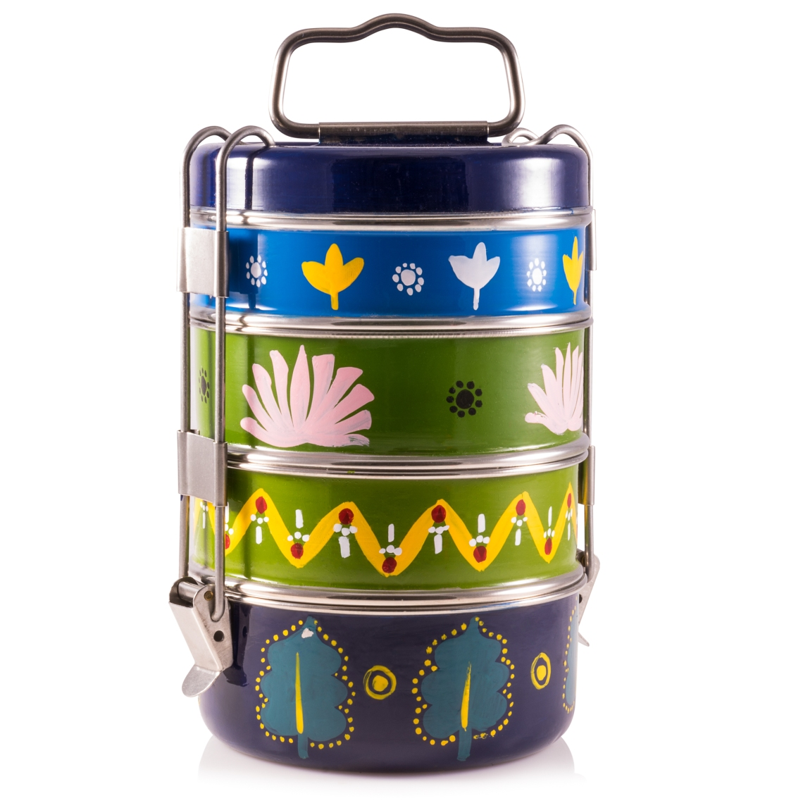 Hand painted tiffin from Indian Tiffin